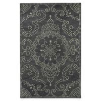 Kaleen Rosaic Pindots 5-Foot x 7-Foot 9-Inch Area Rug in Charcoal