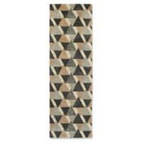Kaleen Rosaic Triangles 2-Foot 6-Inch x 8-Foot Runner in Charcoal