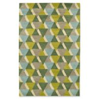 Kaleen Rosaic Triangles 9-Foot 6-Inch x 13-Foot Area Rug in Lime Green