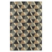 Kaleen Rosaic Triangles 9-Foot 6-Inch x 13-Foot Area Rug in Charcoal