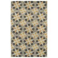 Kaleen Rosaic Classic Tiles 2-Foot x 3-Foot Accent Rug in Grey