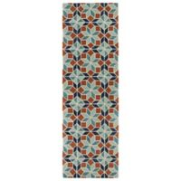 Kaleen Rosaic Classic Tiles 2-Foot 6-Inch x 8-Foot Runner in Turquoise