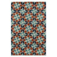 Kaleen Rosaic Classic Tiles 5-Foot x 7-Foot 9-Inch Area Rug in Turquoise