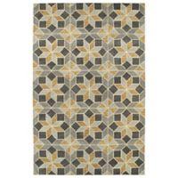 Kaleen Rosaic Classic Tiles 8-Foot x 11-Foot Area Rug in Grey
