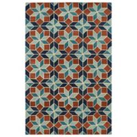 Kaleen Rosaic Classic Tiles 9-Foot 6-Inch x 13-Foot Area Rug in Turquoise