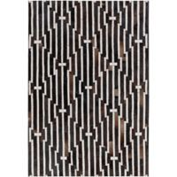 Surya 2-Foot x 3-Foot Hadrian Accent Rug in Black