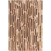 Surya 2-Foot x 3-Foot Hadrian Accent Rug in Camel