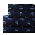 Whimsical 300-Thread-Count Elephant Print Full Sheet Set in Indigo
