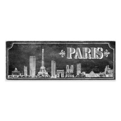 Chalkboard Paris Skyline Canvas Wall Art