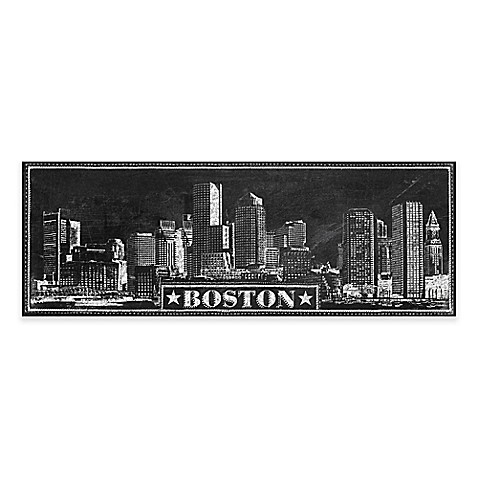 Chalkboard Boston Skyline Canvas Wall Art  sc 1 st  Bed Bath u0026 Beyond & Chalkboard Boston Skyline Canvas Wall Art - Bed Bath u0026 Beyond
