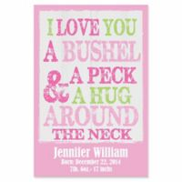 "Courtside Market 12-Inch x 18-Inch ""Bushel and a Peck"" Canvas Wall Art in Pink"