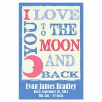 "Courtside Market ""I Love You to the Moon and Back"" Canvas Wall Art in Blue"