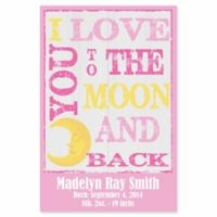 "Courtside Market ""I Love You to the Moon and Back"" Canvas Wall Art in Pink"
