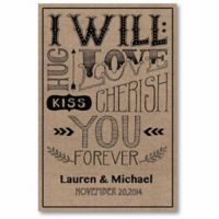 """Courtside Market """"I Will Love You Forever"""" Canvas Wall Art"""