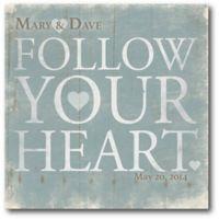 "Courtside Market ""Follow Your Heart"" Canvas Wall Art"