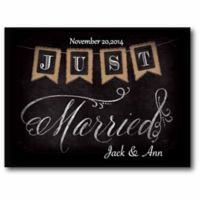"Courtside Market ""Just Married"" Canvas Wall Art"