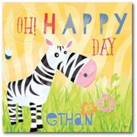 "Courtside Market Explore ""Oh Happy Day"" Zebra Canvas Wall Art"