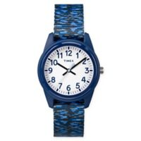 Timex® Our Time Machines™ Children's 32mm Analog Watch w/ Dark Blue/White Nylon Strap