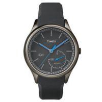Timex® IQ+ Move Men's 41mm Blue Activity Tracker Watch in Blacktone w/Black Silicone Strap
