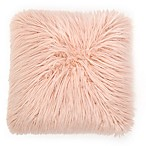 Flokati Faux Fur 18-Inch Square Throw Pillow in Dusty Blush