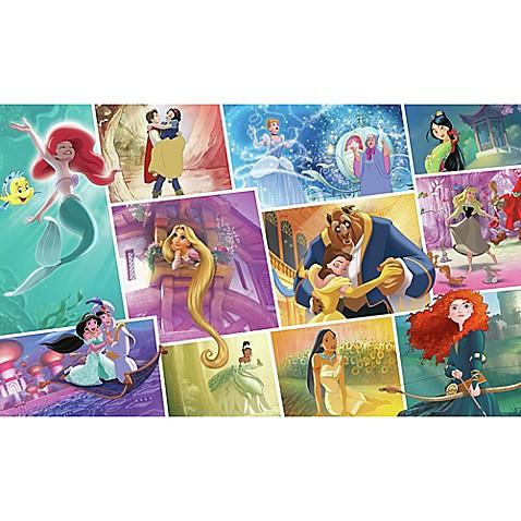 Disney princess storybook peel and stick mural wall art for Disney princess wall mural tesco