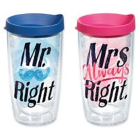 Tervis® Mr. and Mrs. Right 16 oz. Wrap Tumbler 2-Pack with Lids