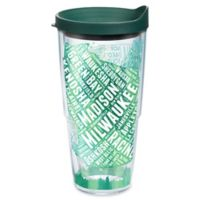 Tervis® Wisconsin Typography Map 24 oz. Wrap Tumbler with Lid