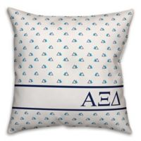 Designs Direct Alpha Xi Delta Greek Sorority 18-Inch Triangle Throw Pillow in Blue
