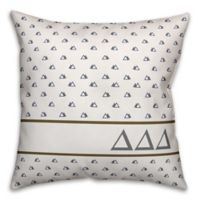 Designs Direct Delta Delta Delta Greek Sorority 18-Inch Triangle Throw Pillow in Blue