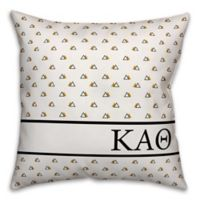 Designs Direct Kappa Alpha Theta Greek Sorority 18-Inch Triangle Throw Pillow in Yellow