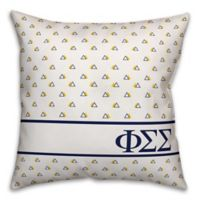 Designs Direct Phi Sigma Sigma Greek Sorority 18-Inch Triangle Throw Pillow in Blue