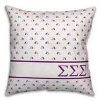 Designs Direct Sigma Sigma Sigma Greek Sorority 18-Inch Triangle Throw Pillow in Purple