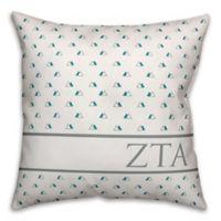 Designs Direct Zeta Tau Alpha Greek Sorority 18-Inch Triangle Throw Pillow in Teal