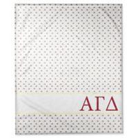 Designs Direct Alpha Gamma Delta Triangle Throw Blanket in Red