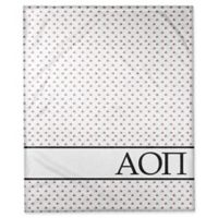 Designs Direct Alpha Omicron Pi Triangle Throw Blanket in Red