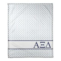 Designs Direct Alpha Xi Delta Triangle Throw Blanket in Blue