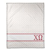 Designs Direct Chi Omega Triangle Throw Blanket in Red