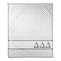 Designs Direct Delta Delta Delta Triangle Throw Blanket in Blue