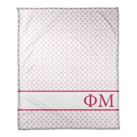 Designs Direct Phi Mu Triangle Throw Blanket in Pink