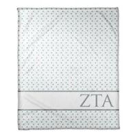Designs Direct Zeta Tau Alpha Triangle Throw Blanket in Teal