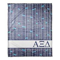 Designs Direct Alpha Xi Delta Chevron Throw Blanket in Blue