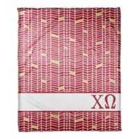 Designs Direct Chi Omega Chevron Throw Blanket in Red