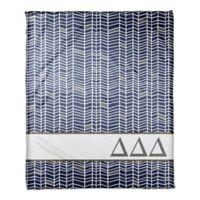 Designs Direct Delta Delta Delta Chevron Throw Blanket in Blue