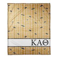 Designs Direct Kappa Alpha Theta Chevron Throw Blanket in Yellow