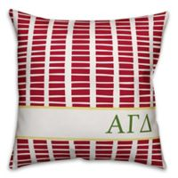 Designs Direct Alpha Gamma Delta Greek Sorority 18-Inch Square Throw Pillow in Red