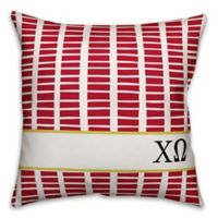 Designs Direct Chi Omega Greek Sorority 18-Inch Square Throw Pillow in Red