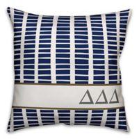 Designs Direct Delta Delta Delta Greek Sorority 18-Inch Square Throw Pillow in Blue