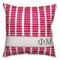 Designs Direct Phi Mu Greek Sorority 18-Inch Square Throw Pillow in Pink