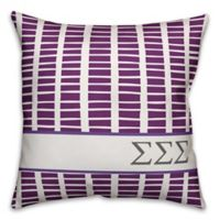 Designs Direct Sigma Sigma Sigma Greek Sorority 18-Inch Square Throw Pillow in Purple