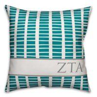 Designs Direct Zeta Tau Alpha Greek Sorority 18-Inch Square Throw Pillow in Teal